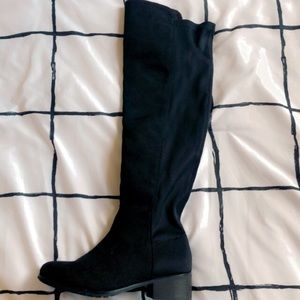 Pretty Little Thing knee high boots
